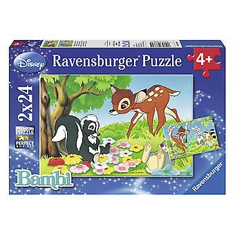 Ravensburger Puzzle Bambi und seine Freunde 2x24St