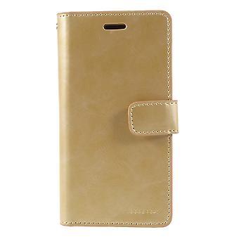 iPhone X Mercury Goospery Mansoor Wallet case-Gold