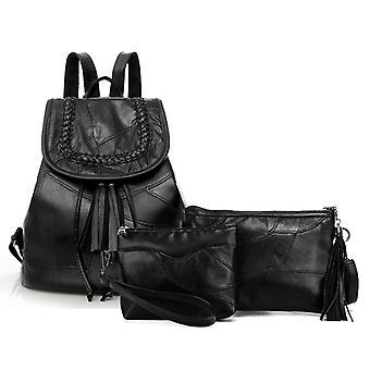 The backpack, shoulder bag, cosmetic bag, genuine lambskin 0970
