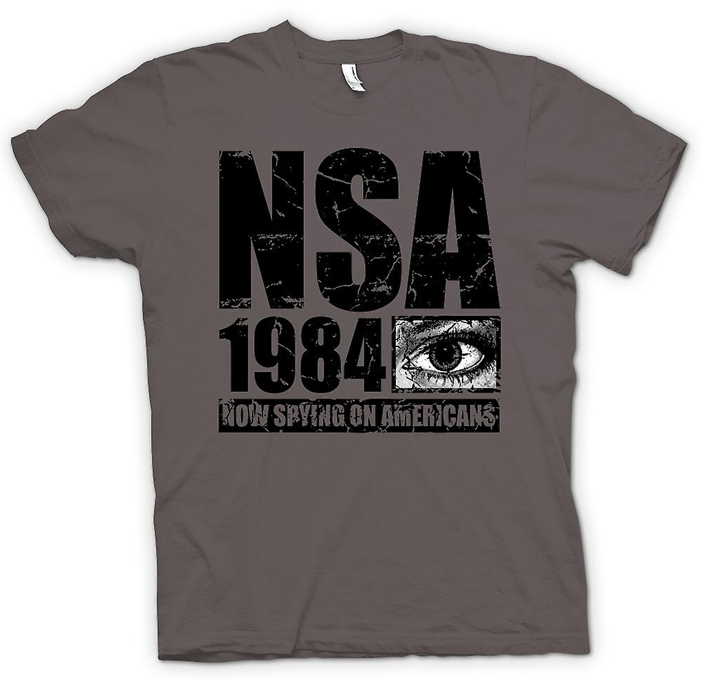 Womens T-shirt - NSA 1984 Spying On Americans - Police State