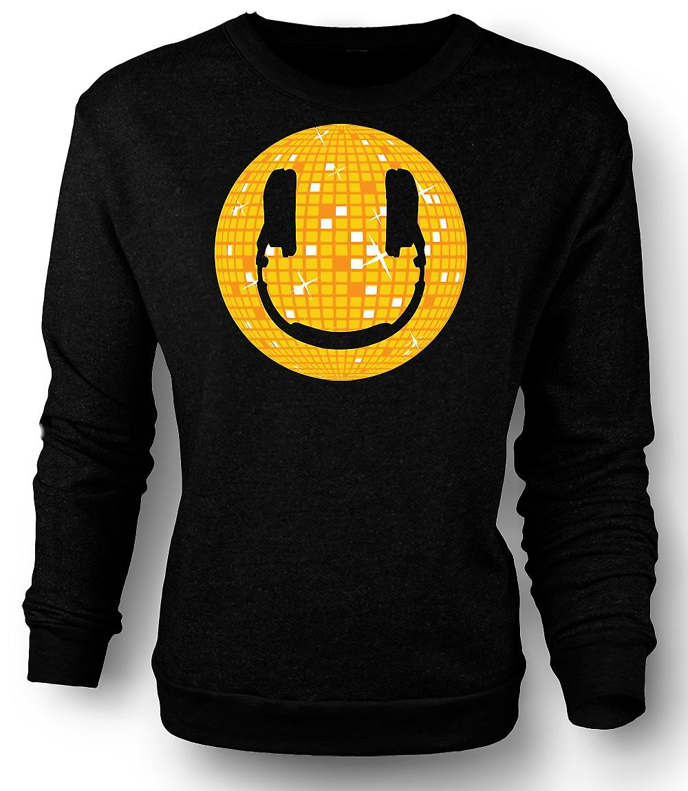 Felpa Mens Smiley Face - palla da discoteca