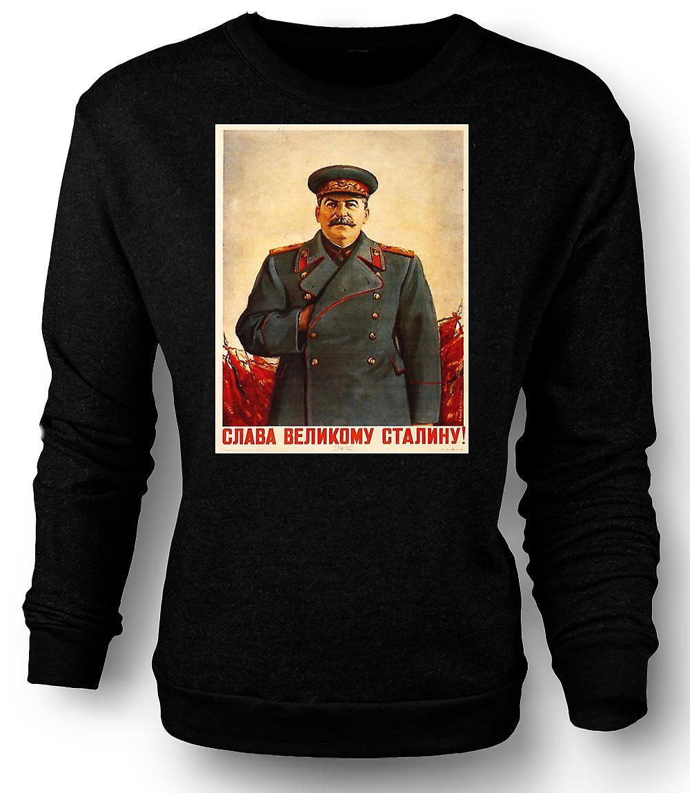 Mens Sweatshirt russisk propaganda plakat - Stalin