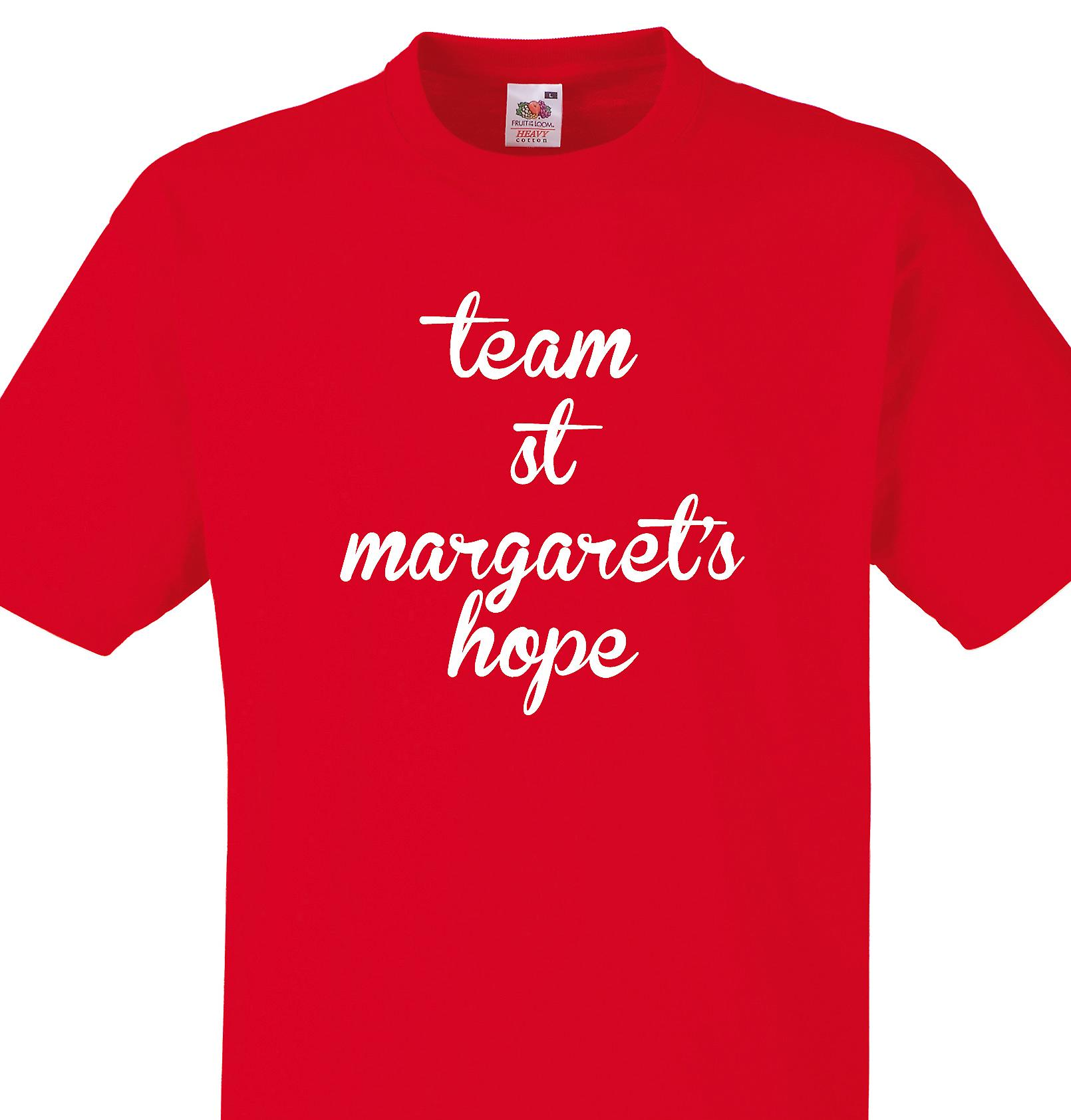 Team St margaret's hope Red T shirt