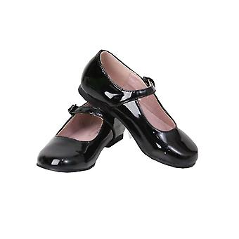 Flower Girls Party Wedding Christening Black Shoes