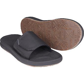 Quiksilver Mens Travel Oasis Slide Sandals - Black/Brown