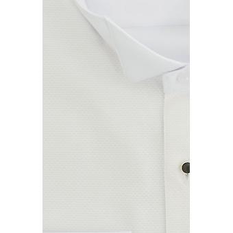Dobell Mens weißen Marcella Abendkleid Hemd regelmäßig Fit Wing Collar Stud Knopfleiste