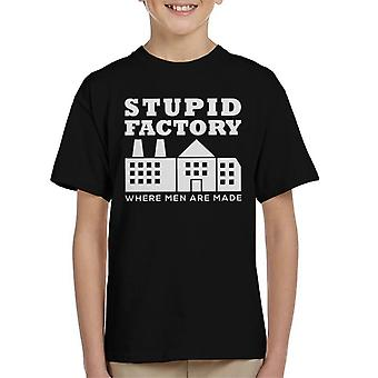 Anti Men Stupid Factory Kid's T-Shirt
