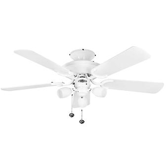 Ceiling Fan Mayfair Combi White with Light 107cm / 42