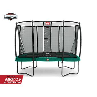 BERG Ultim Champion Regular 330 Trampoline + Safety Net Deluxe Green
