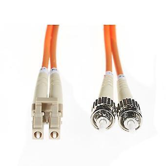 10M Lc St Om1 Multimode Fibre Optic Cable Orange