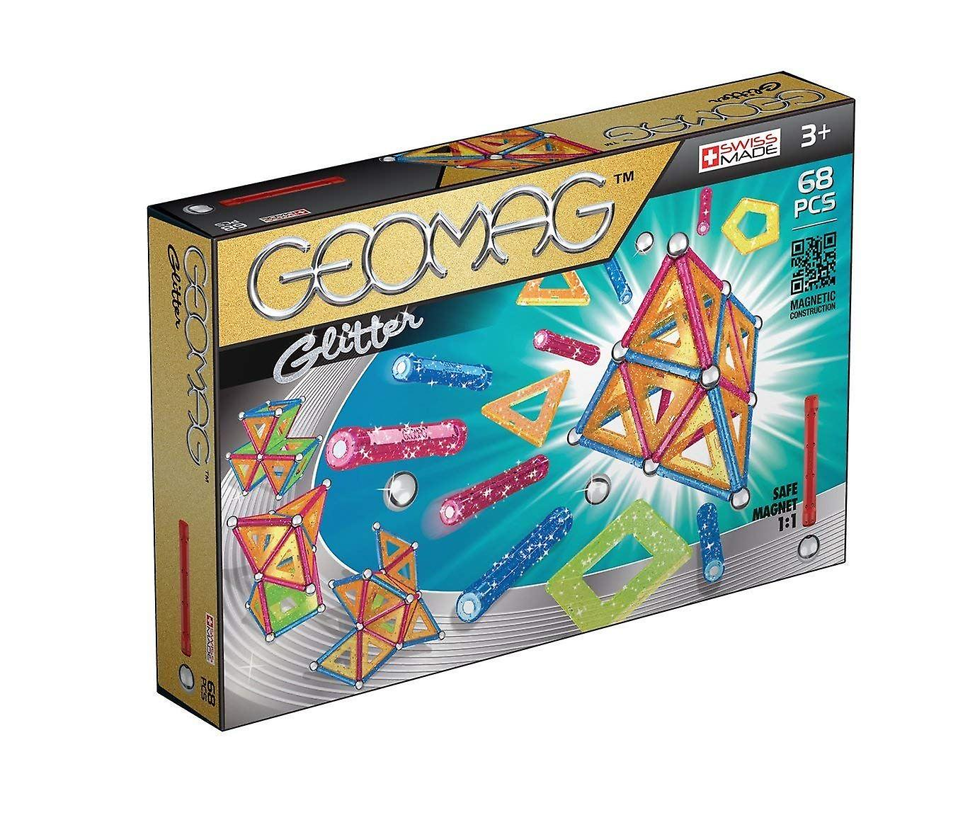 Geomag Glitter Magnetic Construction Set 68-pièce Multi-Couleur