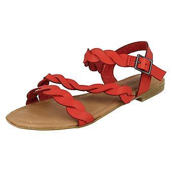 Ladies Savannah Flat Buckle Sandals F00061
