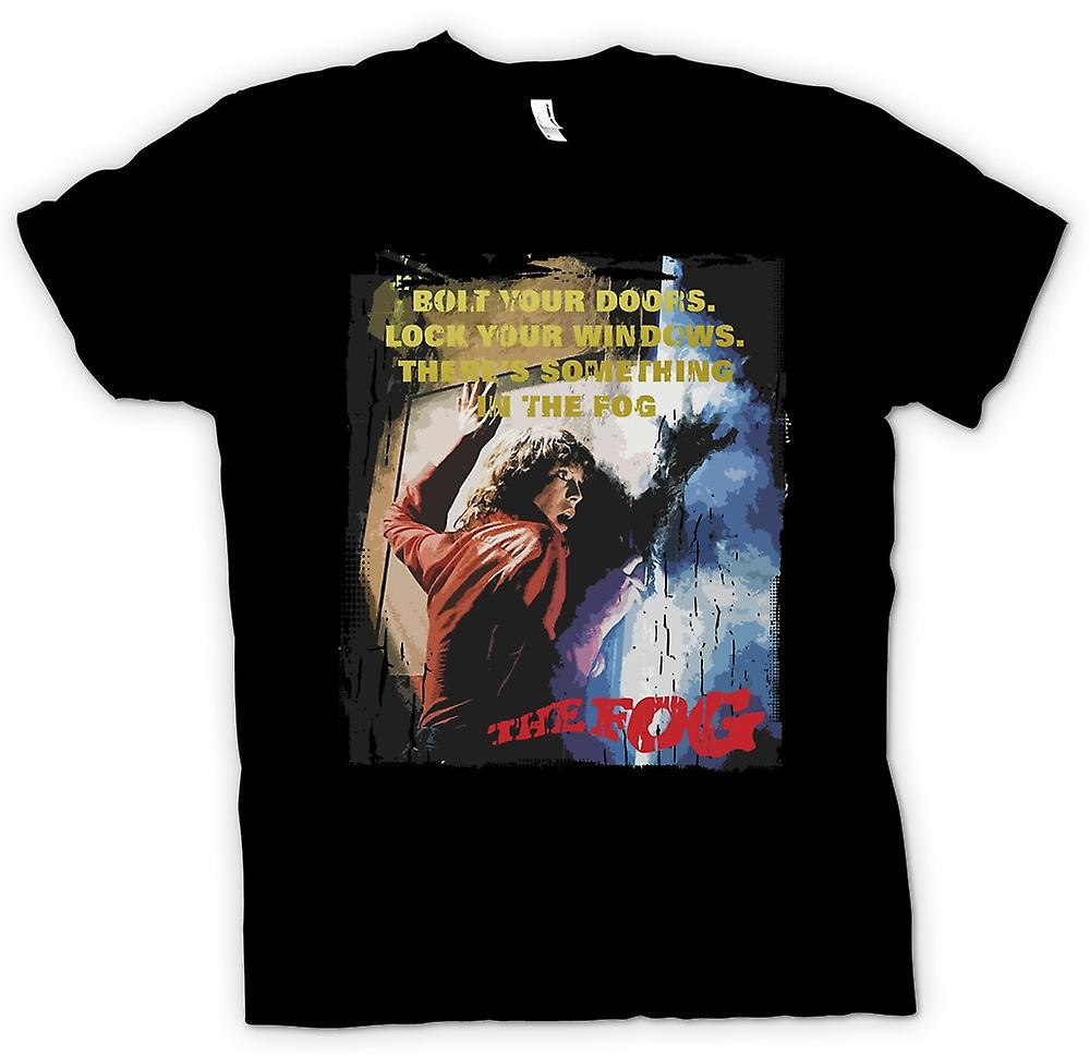 Mens T-shirt - The Fog - Bolt Your Doors - Cool Horror