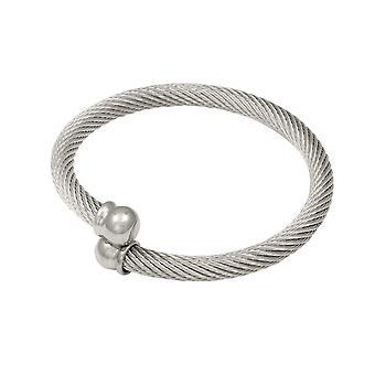 Eternal Collection Celtic Stainless Steel Torque Bangle