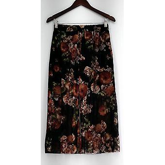 Pantalon Kate et Mallory Floral Print Stretch Waist Mesh Lining Black A434923
