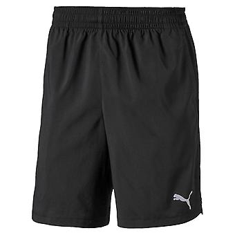 Puma Woven Mens Adults Running Fitness Training Workout Gym Short Black