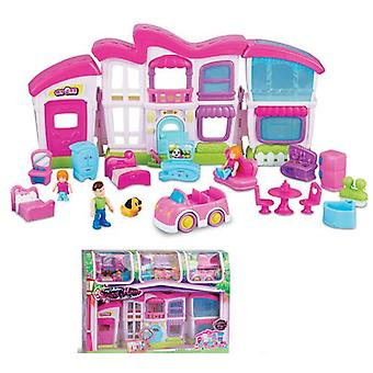 Small World Toys Mansion With Figures And Car