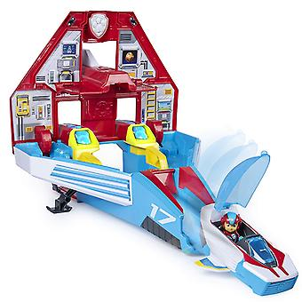Paw Patrol Super PAWs 2-en-1 Transforming Mighty Pups Jet Command Centre with Lights and Sounds