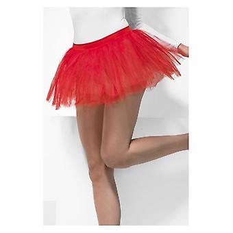 Womens rot Tutu Unterrock Fancy Dress Zubehör