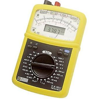 Handheld multimeter analogue, digital Chauvin Arnoux CA 5011 Calibrated to: Manufacturer standards CAT III 1000 V, CAT