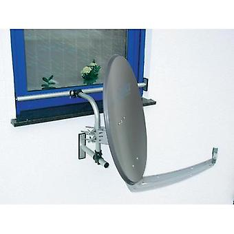 SAT window mount A.S. SAT Suitable for dish size: Ø up to 75 cm Silver