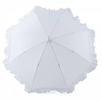 Umbrella for kids girl white ruffle