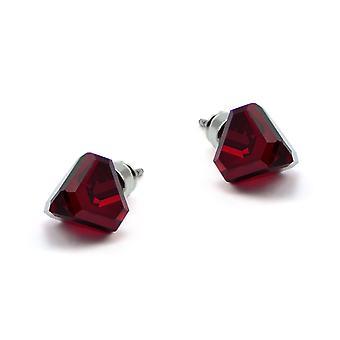 Red stud earrings EMB 13.5