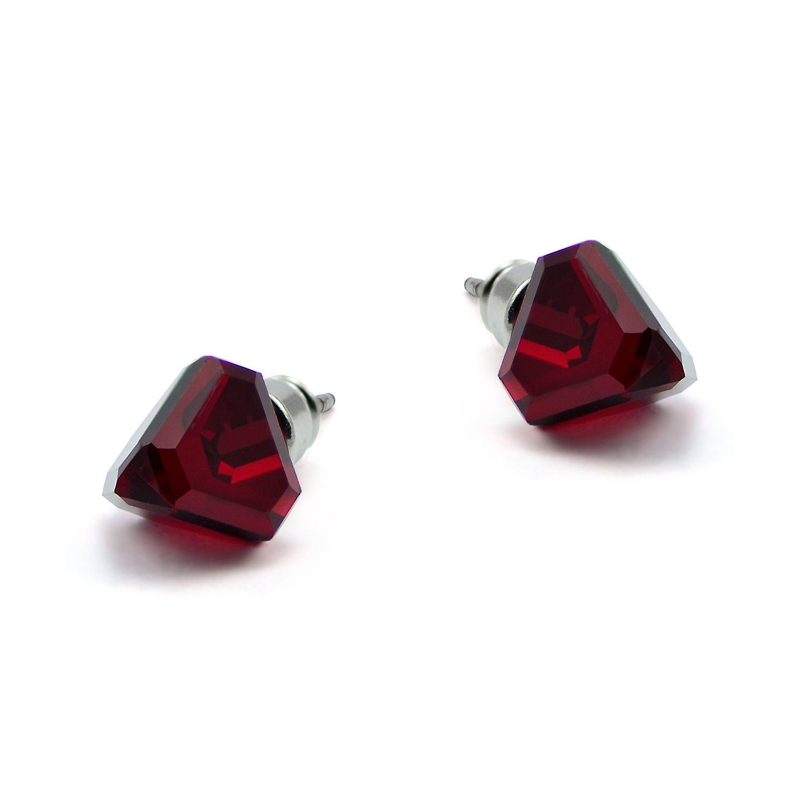 Red stud earrings EMB 13.5