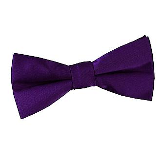 Boy's Plain Purple Satin Bow Tie