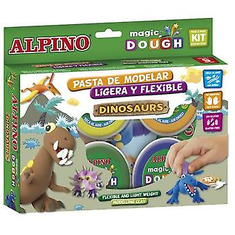 Alpino Magic Dough Dinosaurios 6 X 40 Gr.