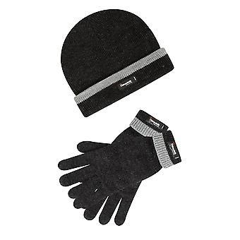 THINSULATE gris vigoré forrado sombrero y guantes