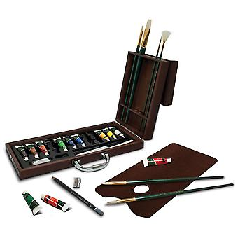 Wooden Box Art Set-Oil Painting 27pc OIL2020