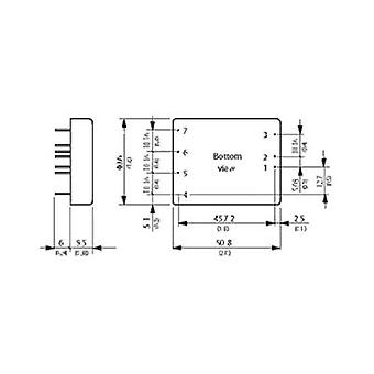 DC/DC converter (print) TracoPower TEN 25-1222 12 Vdc 12 Vdc, -12 Vdc 1.25 A 30 W No. of outputs: 2 x