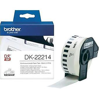 Brother Labels (roll) 12 mm x 30.48 m Paper White 1 Rolls Permanent DK22214 All-purpose labels