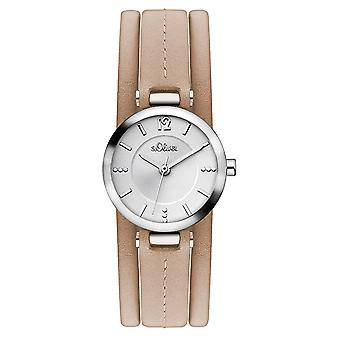 s.Oliver women's watch wristwatch leather SO-3119-LQ