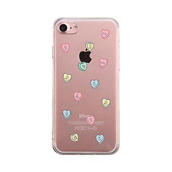Sweethearts Candies Transparent Phone Case Cute Clear Phonecase