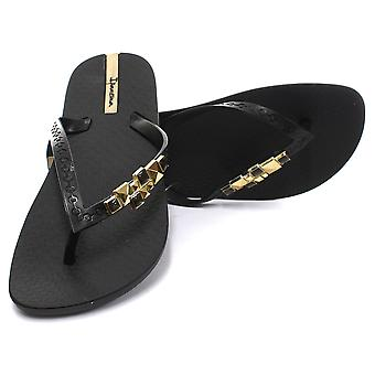 Ipanema Brasil Jewel II Black Womens Summer Flip Flops