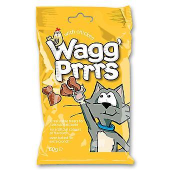 Wagg'prrrs kat behandler med kylling 60g (pakke med 12)