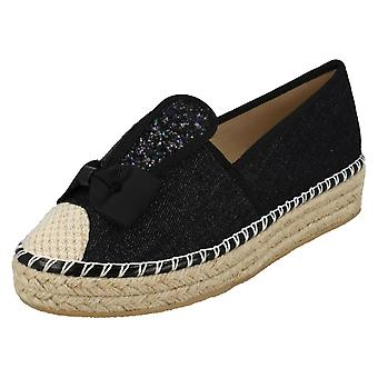 Ladies Spot On Bunny Ears Canvas Shoes F9982