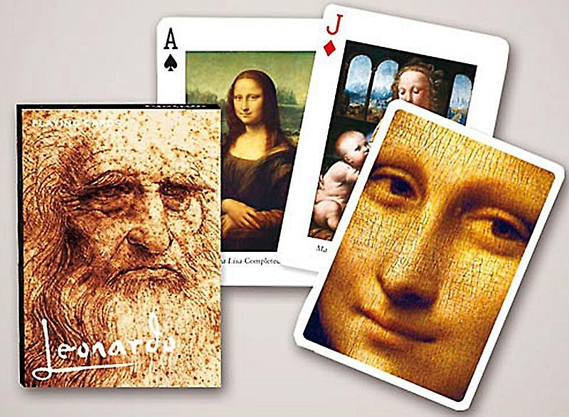 Leonardo Da Vinci set of 52 playing cards + jokers    (gib)