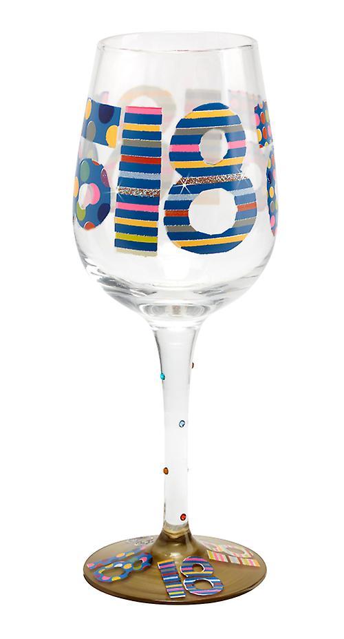 Her er du 18-års fødselsdag vin glas