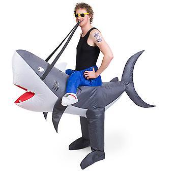 Shark piggyback kostym Walker rider uppblåsbara med motor