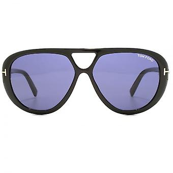Tom Ford Marley Sunglasses In Shiny Black