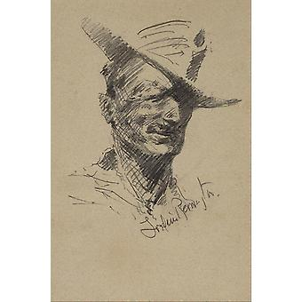 Frederic Remington - Self Portrait Poster Print Giclee