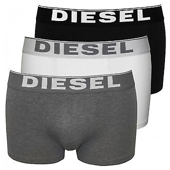 Diesel The Essential Multi 3-Pack Boxer Trunks, Black/White/Grey