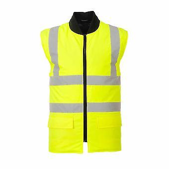 Portwest - Hi-Vis sikkerhet 4-i-1 kontrast trafikk Workwear jakke
