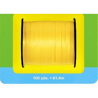 91m Yellow Curling Ribbon - 5mm Wide | Gift Wrap Supplies