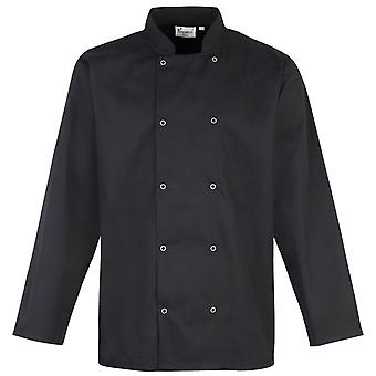 Premier Studded Front Long Sleeve Chefs Jacket / Chefswear