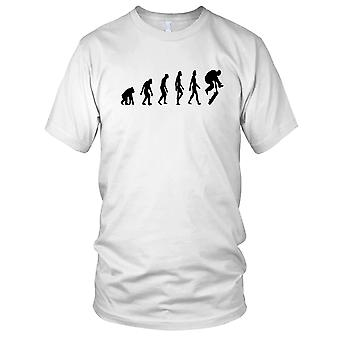 Skateboard Evolution - B&W Skateboarder Skateboard Mens T Shirt