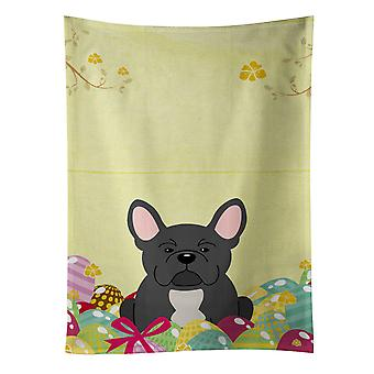 Carolines Treasures  BB6014KTWL Easter Eggs French Bulldog Black Kitchen Towel